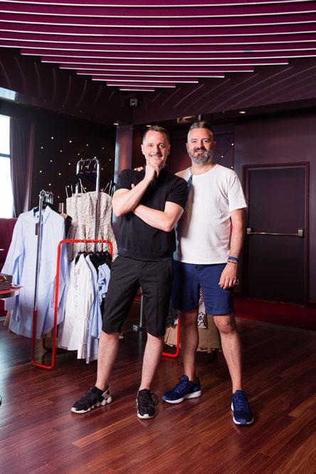 Das Design-Duo Talbot Runhof. Foto: Hapag Lloyd Cruises