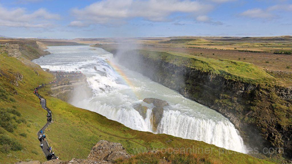 Gullfoss Wasserfall auf Island. Foto: Oliver Asmussen/oceanliner-pictures.com