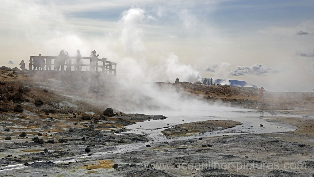 Hochtemperaturgebiet Hverarönd am Namafjall Vulkan auf Island. Foto: Oliver Asmussen/oceanliner-pictures.com