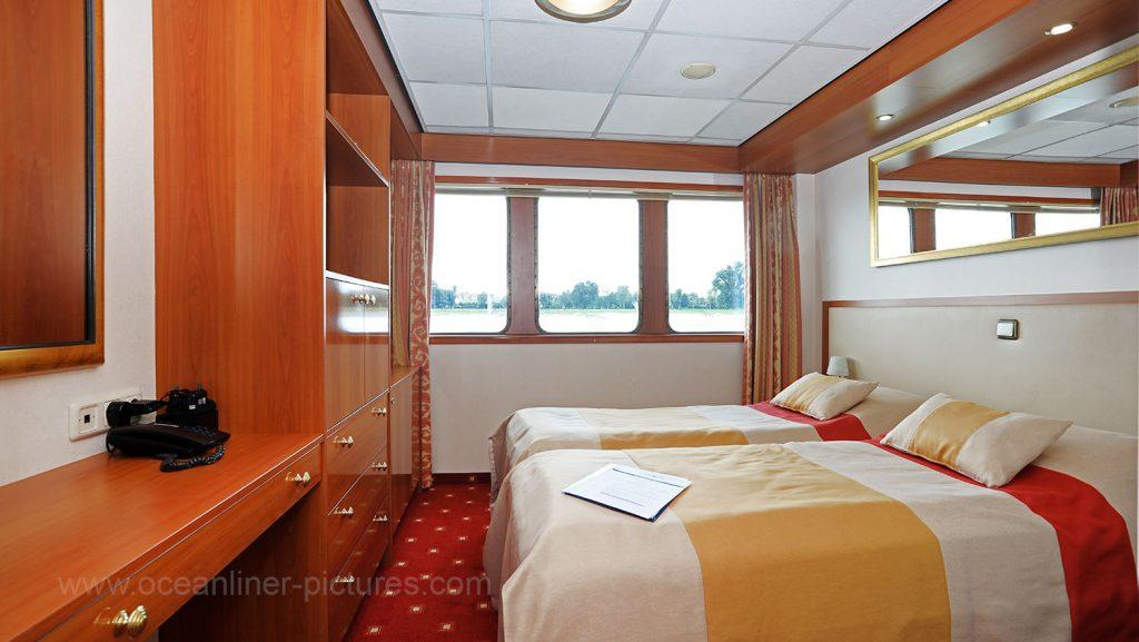 Kabine 117 Elegant Lady Hauptdeck. Foto: Oliver Asmussen/oceanliner-pictures.com