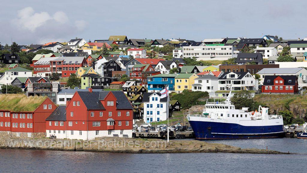 Torshavn auf den, Färöer Inseln. Foto: Oliver Asmussen/oceanliner-pictures.com
