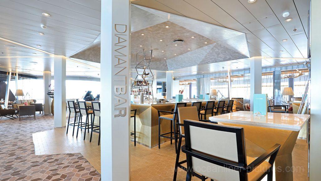 Diamant Bar Mein Schiff 6. Foto: Oliver Asmussen/oceanliner-pictures.com