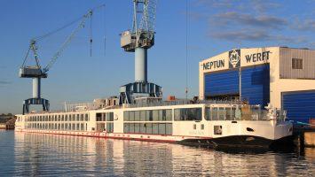 Sechs weitere Schiffe werden 2019 die Neptun Werft für Viking River Cruises verlassen. Foto: Neptun Werft