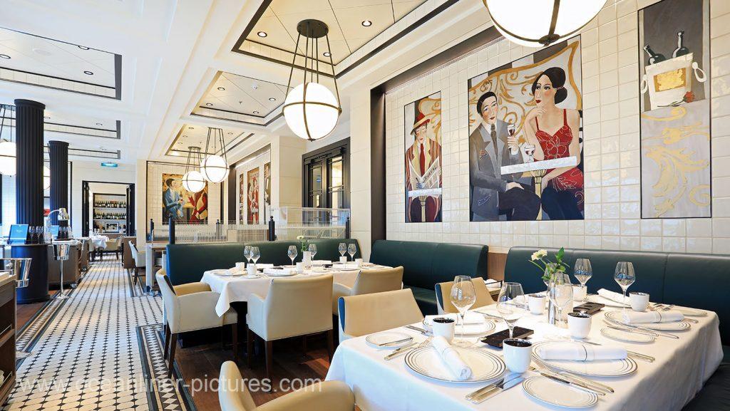 MS Europa 2 Restaurant Tarragon. Foto: Oliver Asmussen/oceanliner-pictures.com
