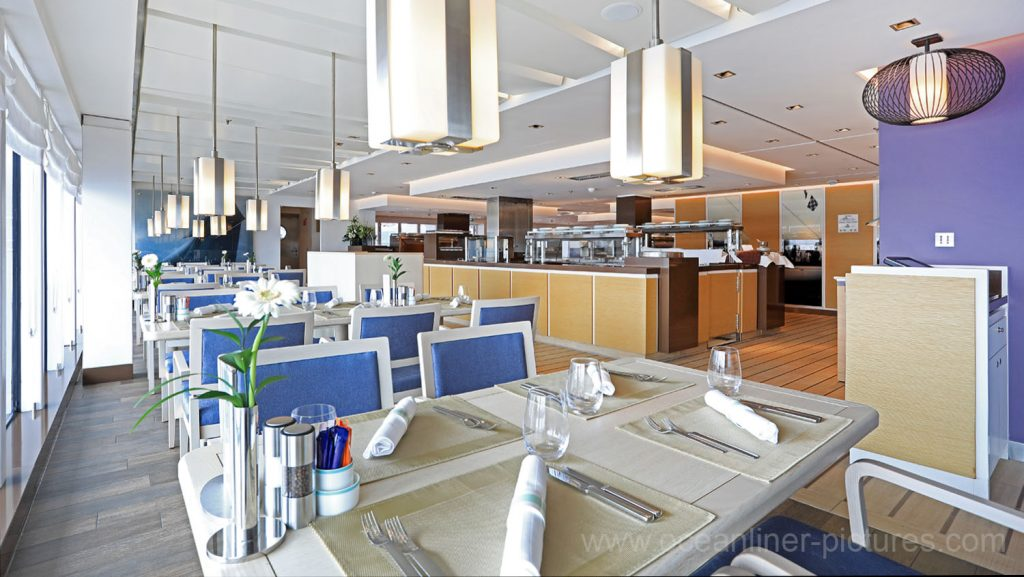MS Europa 2 Restaurant Yacht Club. Foto: Oliver Asmussen/oceanliner-pictures.com