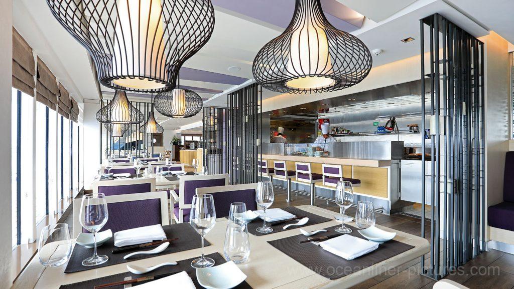 MS Europa 2 Sakura Sushi Restaurant. Foto: Oliver Asmussen/oceanliner-pictures.com