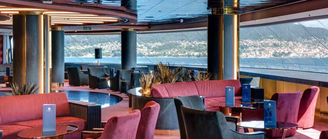 Auf der MSC Meravigliaa findet Gäste im MSC Yacht Club die Top Sail Lounge. Foto: MSC Kreuzfahrten