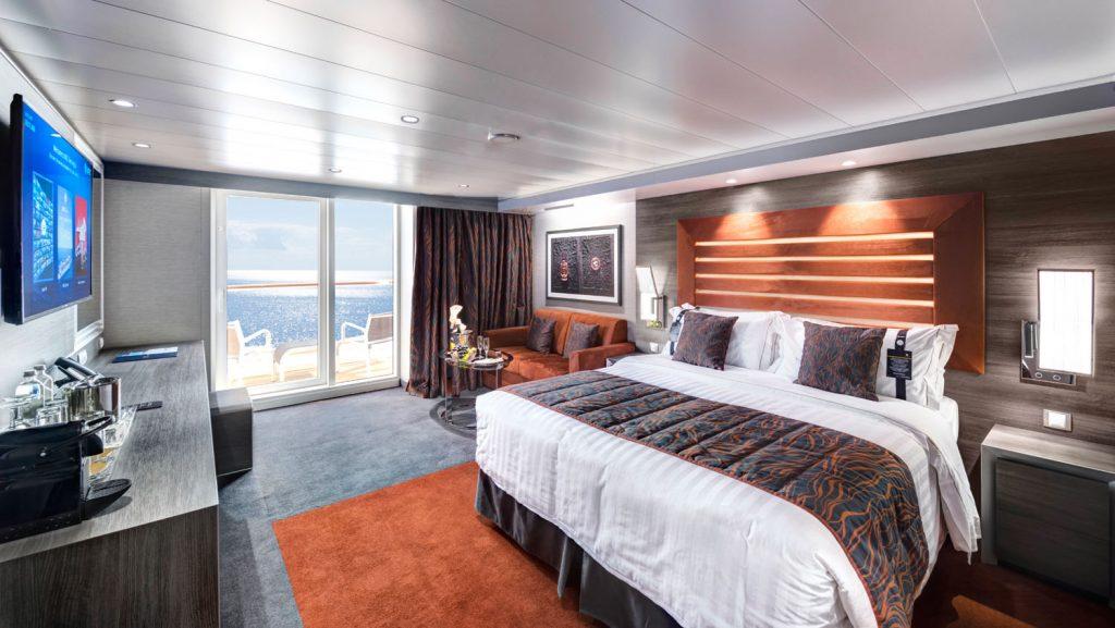 Blick in einer MSC Yacht Club Deluxe Suite. Foto: MSC Kreuzfahrten