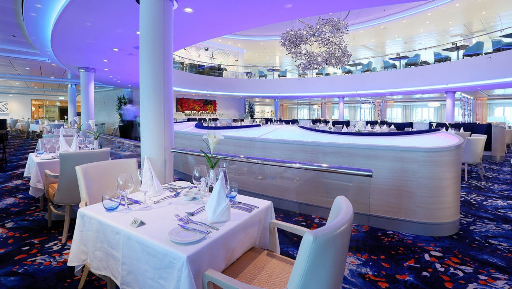 Mein Schiff 5 Atlantik Restaurant Klassik. Foto: Oliver Asmussen/oceanliner-pictures.com