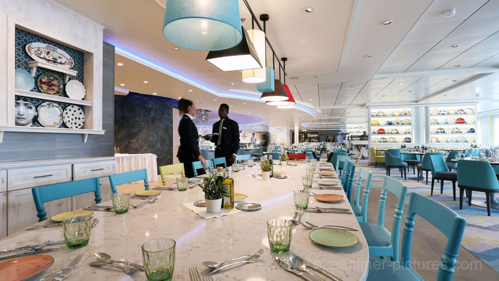 Mein Schiff 5 Atlantik Restaurant Mediterran. Foto: Oliver Asmussen/oceanliner-pictures.com