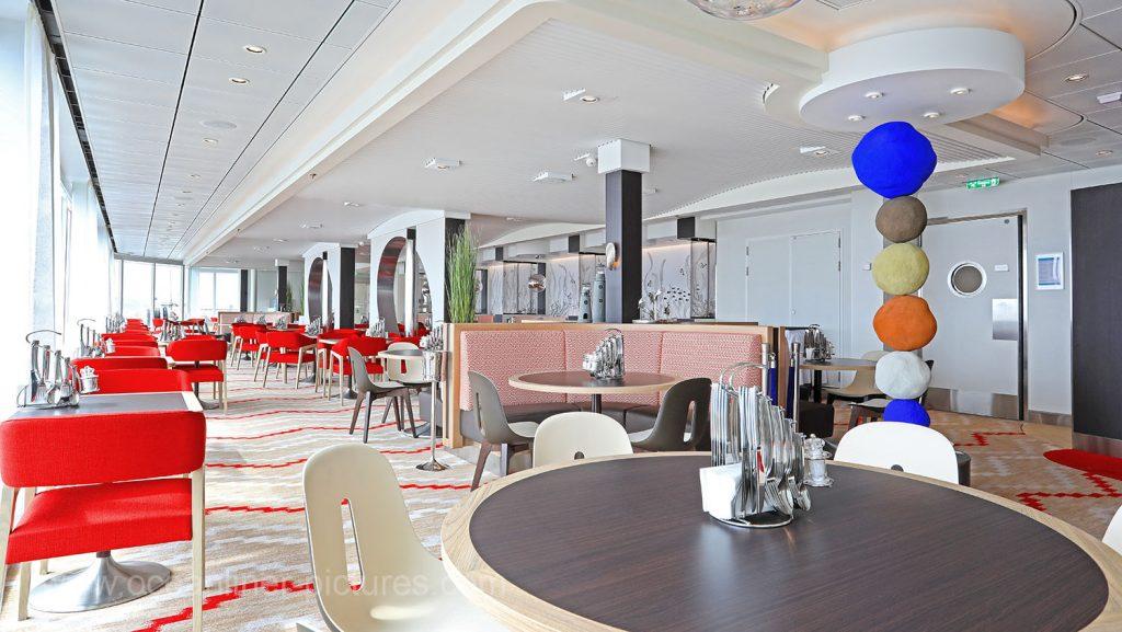 Mein Schiff 6 Eingang Gosch Sylt Restaurant. Foto: Oliver Asmussen/oceanliner-pictures.com