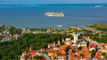 Die Norwegian Getaway in Tallinn. Foto: Norwegian Cruise Line