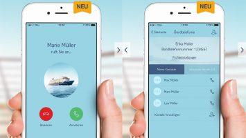 Die neue Telefonfunktion der Mein-Schiff-App. Foto: TUI Cruises