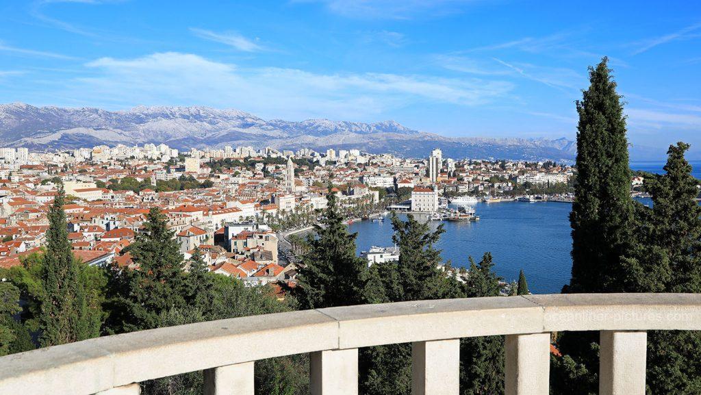 Aussicht vom Marjan über die Stadt Split. / Foto: Oliver Asmussen/oceanliner-pictures.com