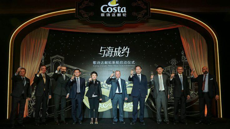 Münzzeremonie für die neue Costa Venezia. Foto: Costa Crociere