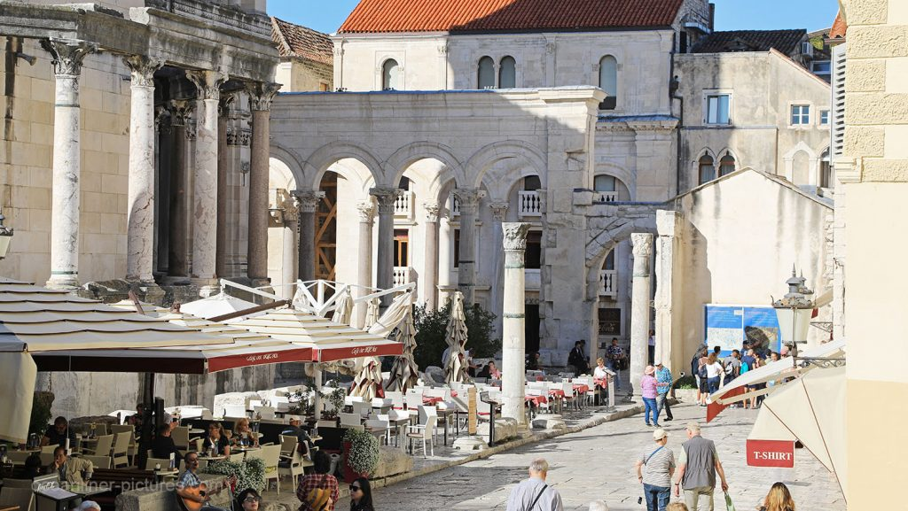 Historischer Unesco-Stadtkern von Split, Kroatien. / Foto: Oliver Asmussen/oceanliner-pictures.com