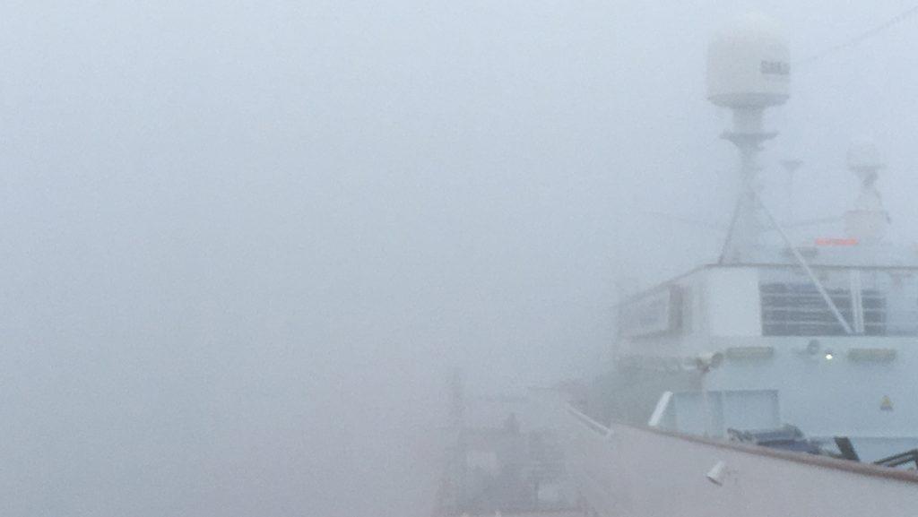 Nebel in der Lagune von Venedig. / Foto: Oliver Asmussen/oceanliner-pictures.com