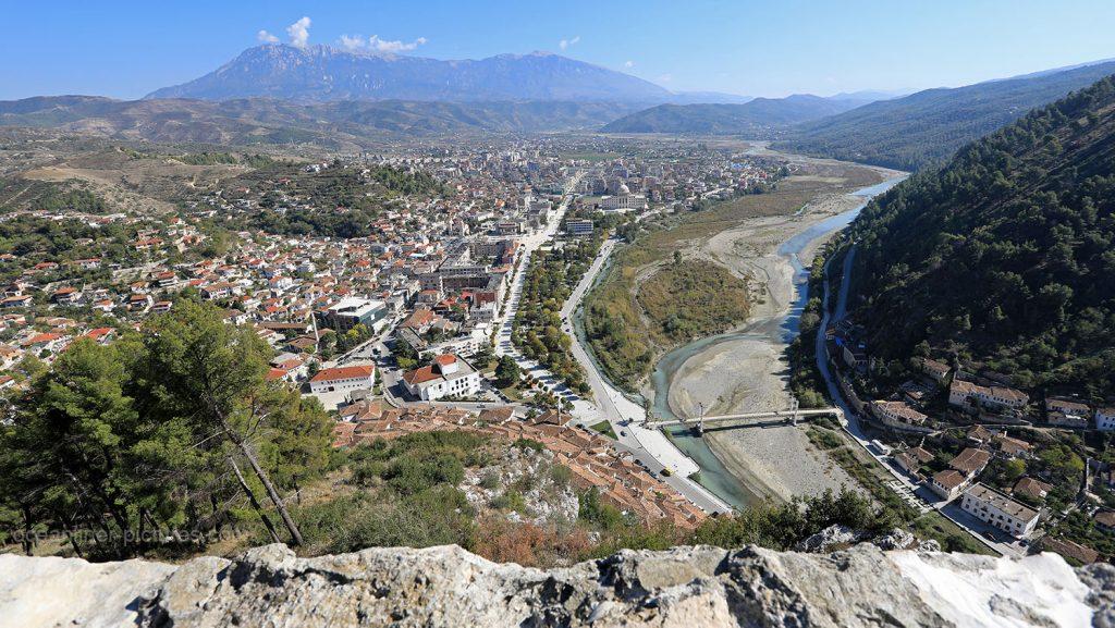 Panoramablick vom Berat Castle in Albanien. / Foto: Oliver Asmussen/oceanliner-pictures.com