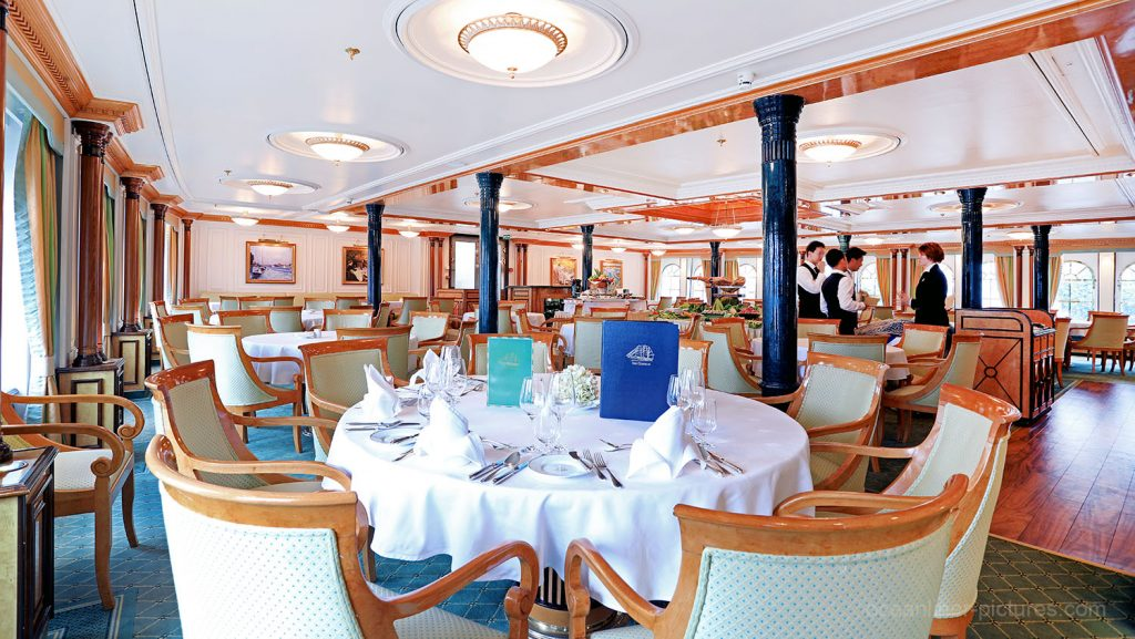 Restaurant Sea Cloud II. / Foto: Oliver Asmussen/oceanliner-pictures.com
