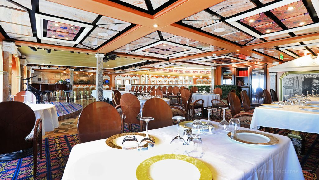 Sala Vincenza Lobster and Grill Lounge Costa Magica. / Foto: Oliver Asmussen/oceanliner-pictures.com