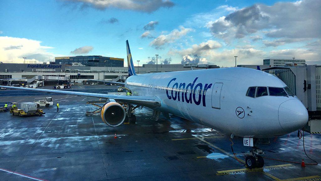 Condor 767 auf dem Flughafen Frankfurt. / Foto: Oliver Asmussen/oceanliner-pictures.com
