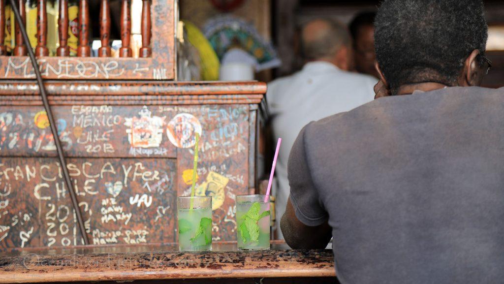 La Bodeguita del Medio mit Mojito in Havana. / Foto: Oliver Asmussen/oceanliner-pictures.com