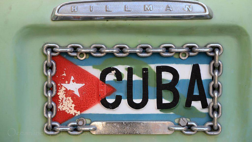 Schild an einem Auto in Havanna. / Foto: Oliver Asmussen/oceanliner-pictures.com