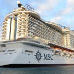 Markant: Die MSC Seaside verfügt über eine breite Promenade und einen Panorama-Skywalk in 40 Metern Höhe. Die Designer der Heckansicht haben sich inspirieren lassen von der Skyline Miamis. Foto: André Lenthe