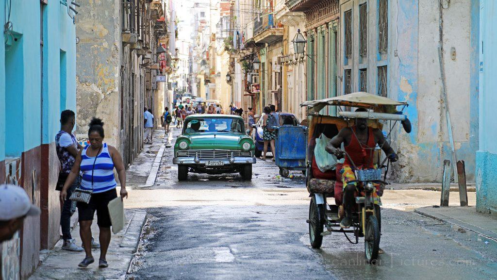 Typisches Straßenbild in Havanna. / Foto: Oliver Asmussen/oceanliner-pictures.com