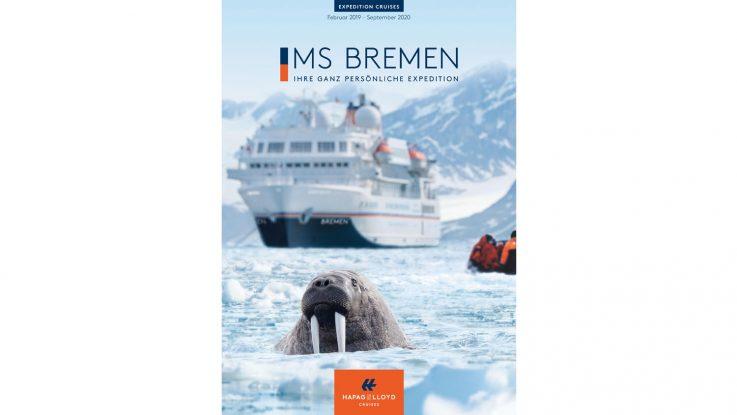 Der neue Hauptkatalog der MS Bremen erscheint. Foto: Hapag Lloyd Cruises