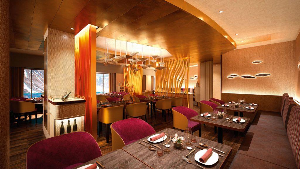Das Spezialitätenrestaurant an Bord. Foto: Hapag Lloyd Cruises