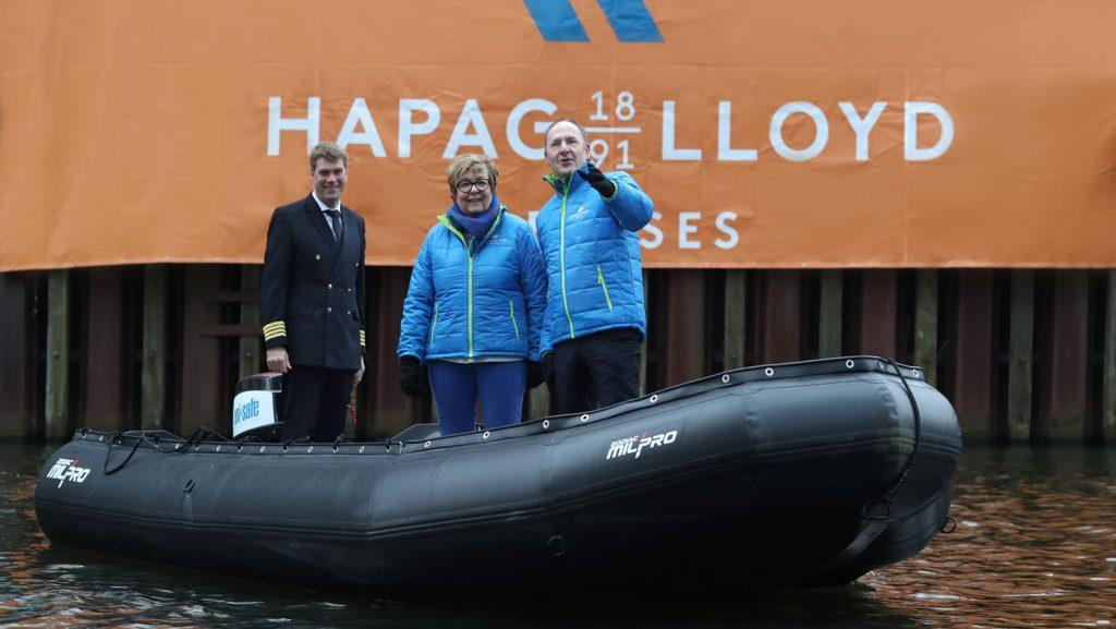 Direkt an der Firmenzentrale im Herzen Hamburgs präsentierte Hapag Lloyd Cruises die Highlights. Foto: Hapag Lloyd Cruises
