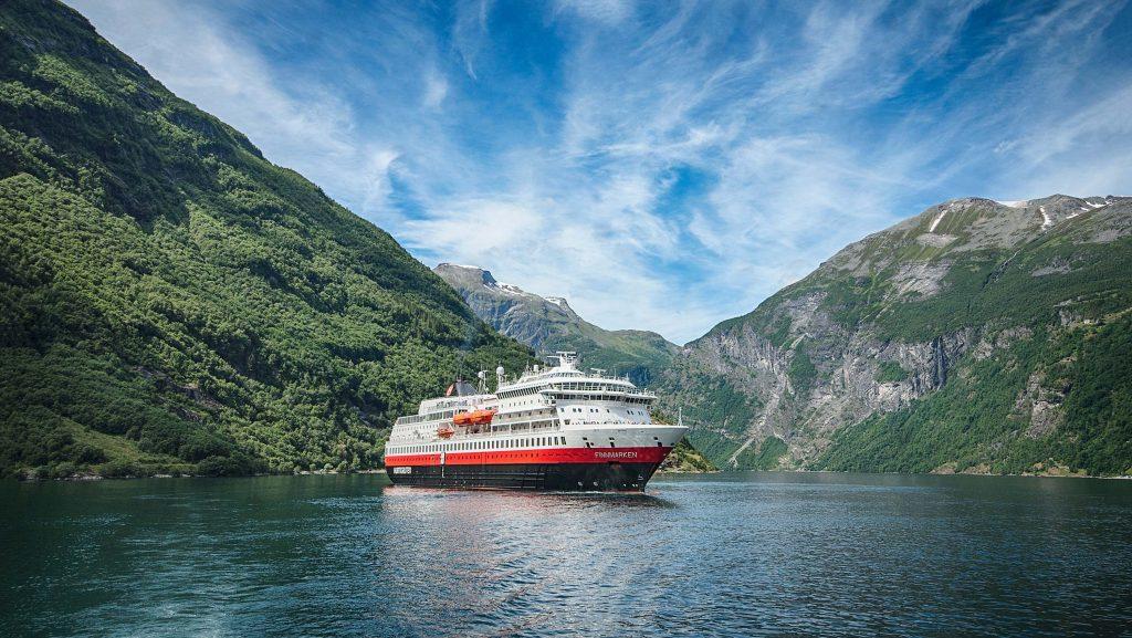 Die Finnmarken der Hurtigruten. Foto: Hurtigruten