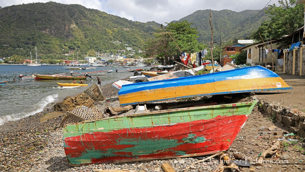 Bucht in Soufriere, St. Lucia. / Foto: Oliver Asmussen/oceanliner-pictures.com
