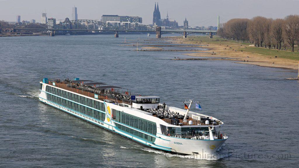 MS Alena erste Abfahrt Köln 25.03.2018. / Foto: Oliver Asmussen/oceanliner-pictures.com