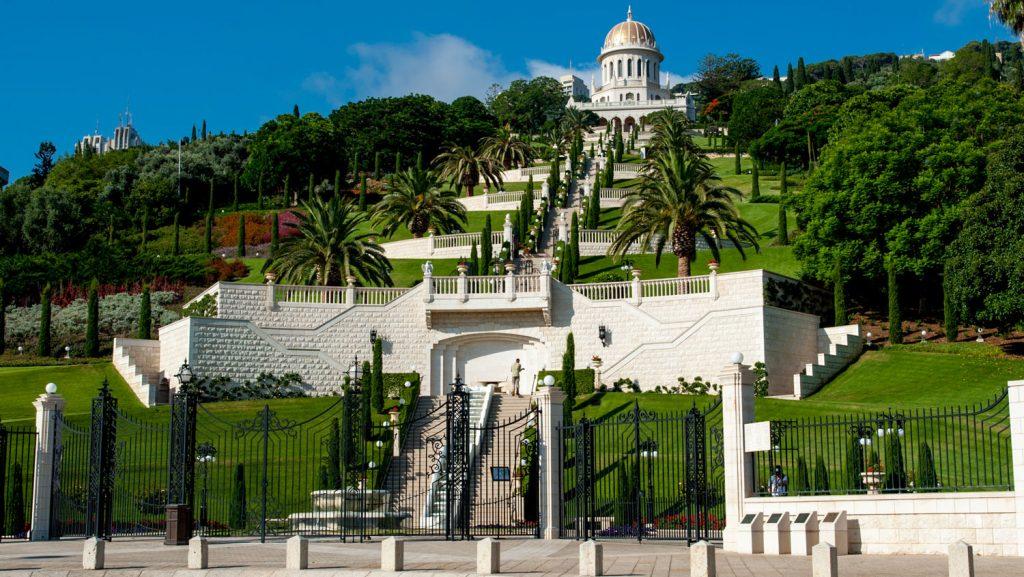Neue Ziele wie Haifa, hier der Bahai Garden, laden nach Israel ein. Foto: MSC Kreuzfahrten