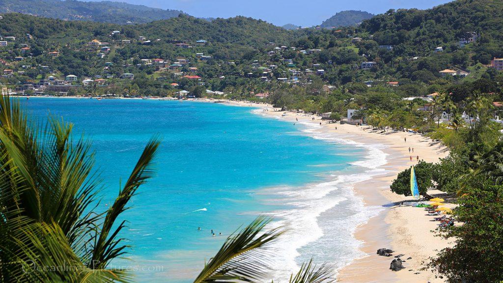 Panoramablick über den Grand Anse Beach Grenada. / Foto: Oliver Asmussen/oceanliner-pictures.com