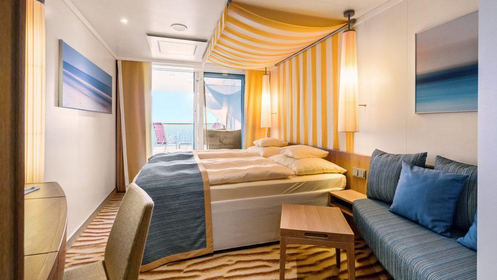 Blick in die Verandakabine Deluxe. Foto: AIDA Cruises