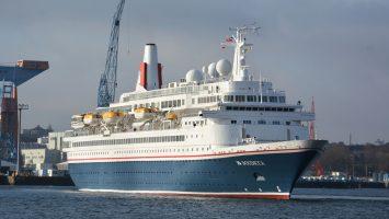 Erster Gast in Kiel 2018. Vergangene Woche besuchte die Boudicca die Hafenstadt an der Ostsee. Foto: Port of Kiel