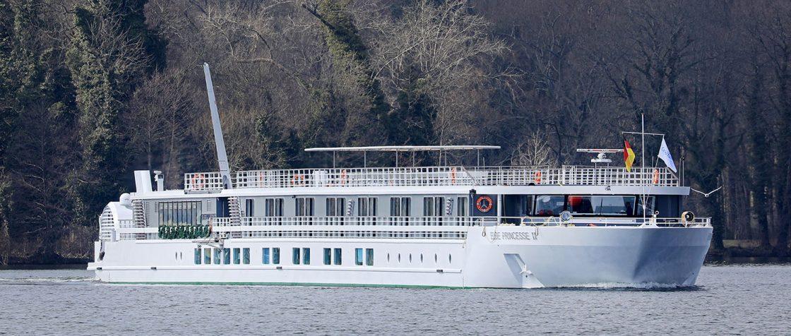 Elbe Princesse II auf dem Tegeler See. / Foto: Oliver Asmussen/oceanliner-pictures.com