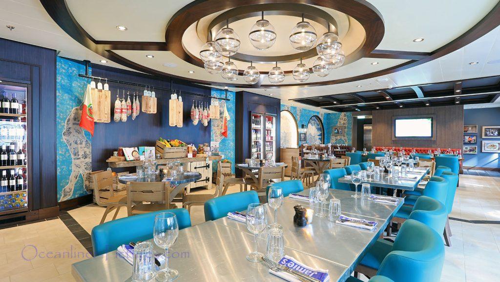 Jamies Italian Restaurant Symphony of the Seas. / Foto: Oliver Asmussen/oceanliner-pictures.com