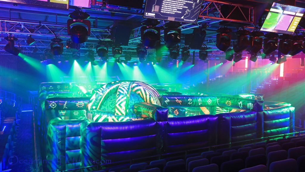 Laser Tag Battle Studio B Symphony of the Seas. / Foto: Oliver Asmussen/oceanliner-pictures.com