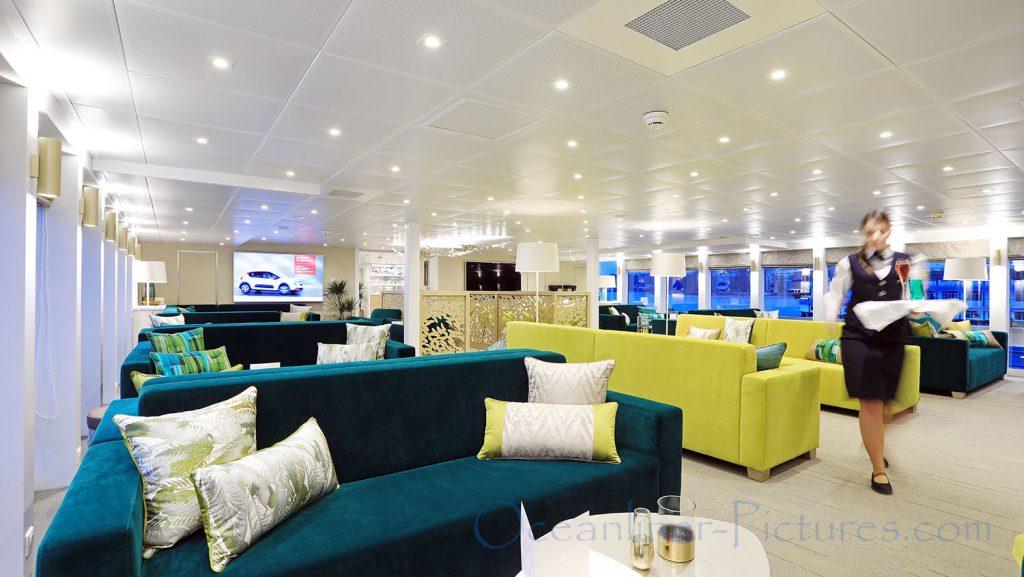 Lounge MS Elbe Princesse II. / Foto: Oliver Asmussen/oceanliner-pictures.com