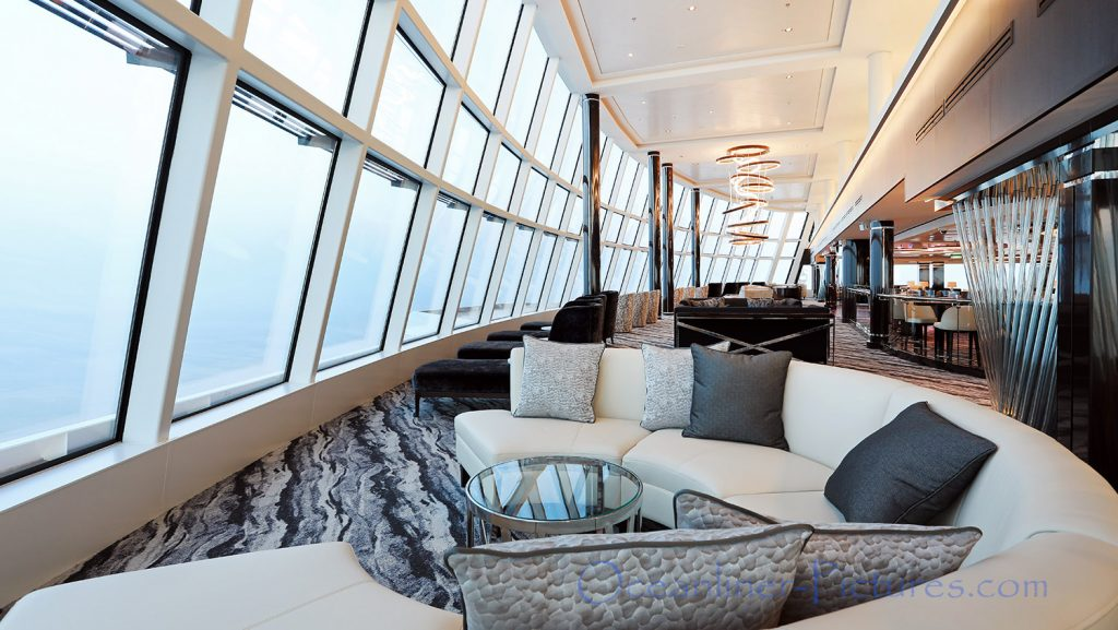 Observation Lounge Norwegian Bliss. / Foto: Oliver Asmussen/oceanliner-pictures.com