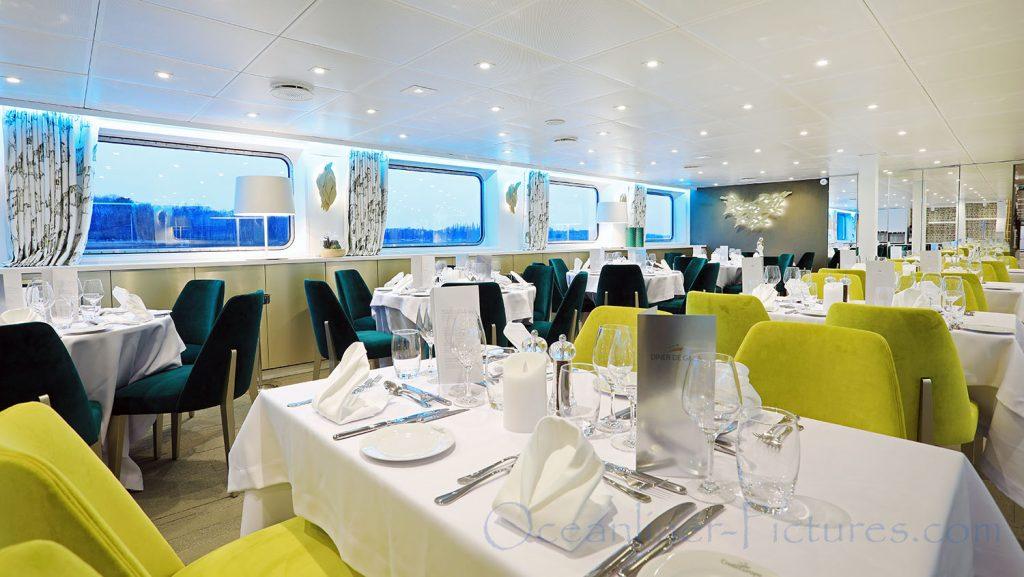 Restaurant MS Elbe Princesse II. / Foto: Oliver Asmussen/oceanliner-pictures.com