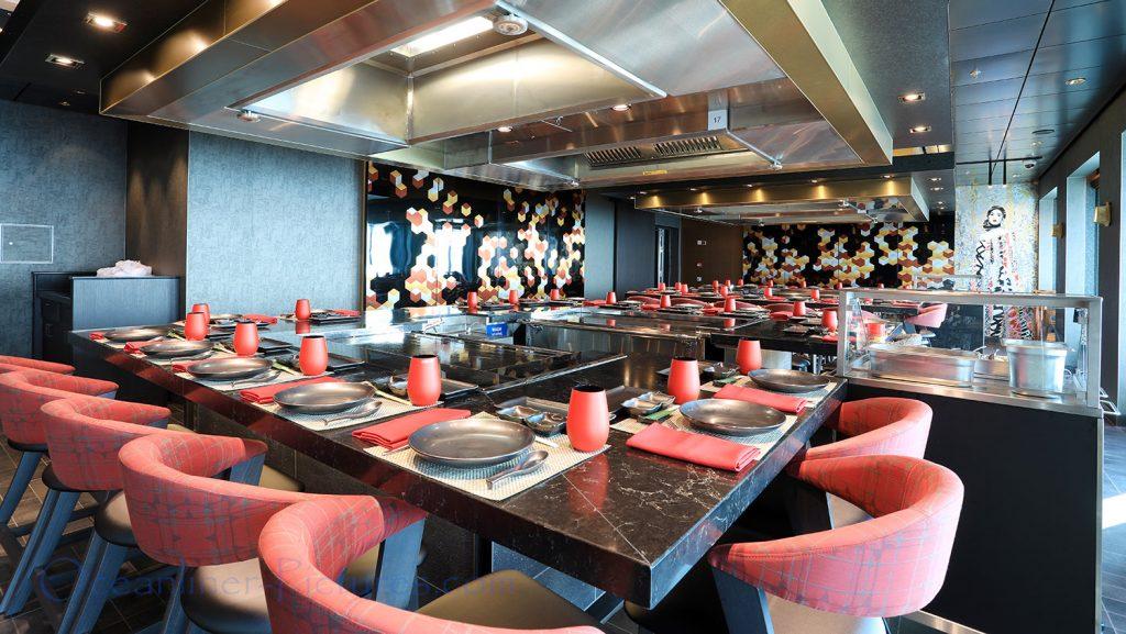 Teppanyaki Restaurant Norwegian Bliss. / Foto: Oliver Asmussen/oceanliner-pictures.com