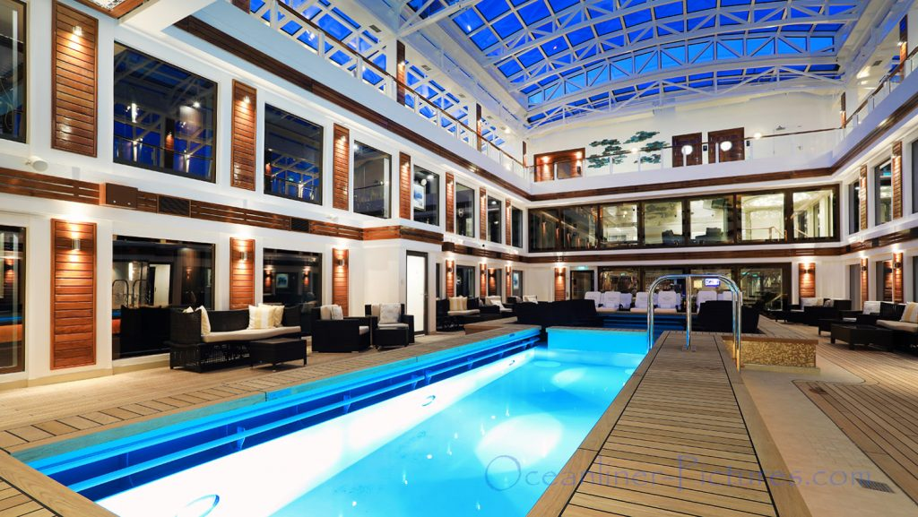 The Haven Courtyard Norwegian Bliss. / Foto: Oliver Asmussen/oceanliner-pictures.com