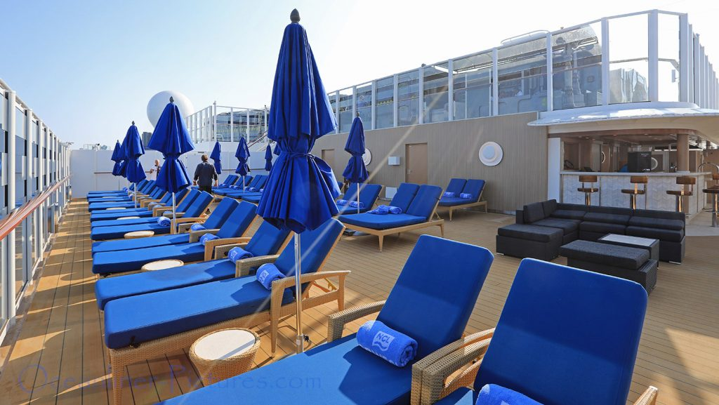 Vibe Beach Club Norwegian Bliss. / Foto: Oliver Asmussen/oceanliner-pictures.com