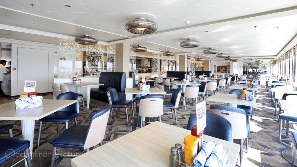 Garden Cafe Buffet Restaurant Norwegian Breakaway. / Foto: Oliver Asmussen/oceanliner-pictures.com