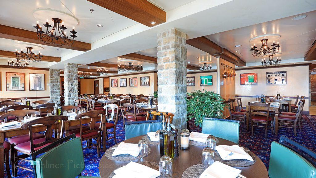 La Cucina Italian Restaurant Norwegian Breakaway. / Foto: Oliver Asmussen/oceanliner-pictures.com